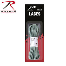"""New Rothco GI Style 1 Pair Nylon 72"""" Foliage Green Replacement Boot Laces"""