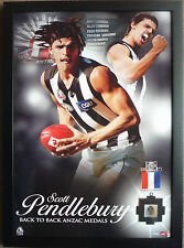 Scott Pendlebury Anzac Day Medallist AFL Collingwood Football Club Print Framed