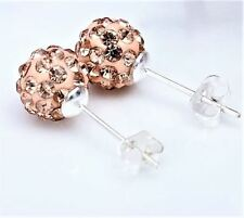 JB008 Rose Gold Silver Plated Alloy Disco Ball Design Stud Fashion Stud Earrings