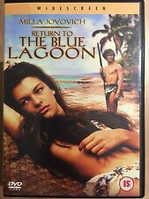 Milla Jovovich RETURN TO THE BLUE LAGOON ~ 1991 Erotic Shipwreck Sequel | UK DVD