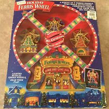 """1994 MR. CHRISTMAS LIGHTED MUSICAL """"HOLIDAY FERRIS WHEEL"""" THAT PLAYS 20 SONGS"""