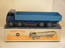 "Dinky No: 501 ""Foden Diesel 8-Wheel Wagon"" 2nd - Violet Blue/Light Blue (Boxed)"