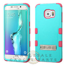 Samsung Galaxy S6 Edge Plus TUFF Hybrid Case with Stand Teal Green/Electric Pink