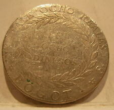 Colombia Republic of Nueva Granada 1840 RS Silver 8 Reales VF