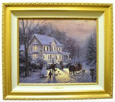 Home For The Holidays LE A/P Canvas Painting Thomas Kinkade 1991 147/200