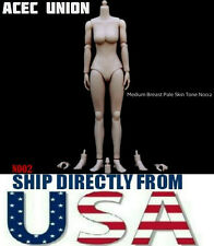 1/6 Female Nude Figure Body Medium Breast Pale Skin Tone N002 - U.S.A. SELLER