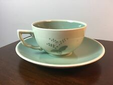 VINTAGE ALUMINIA ROYAL COPENHAGEN NILS THORSSON CUP AND SAUCER SET Green