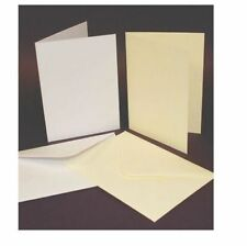 25 x C5 IVORY BLANK CARDS 300gsm & ENVELOPES 100gsm CARD MAKING CRAFT 864
