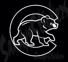 """2 Chicago Cubs Vinyl Decals Stickers - Many Colors - 2 Stickers!! 6"""""""