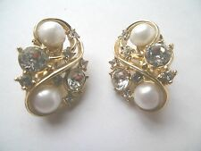 LOVELY VINTAGE DESIGNER COSTUME JEWELLERY TRIFARI EARRINGS
