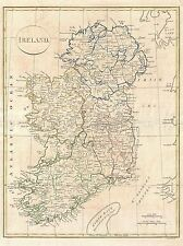 1799 CLEMENT CRUTTWELL MAP IRELAND VINTAGE REPRO POSTER ART PRINT 2881PYLV