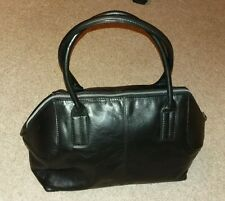 "Satchel Doctor's Style Gigi Black Genuine Leather Ladies Handbag  9""x12""x7"""