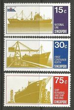 SINGAPORE. 1970. Singapore Shipping Set. SG: 143/45. Mint Never Hinged.
