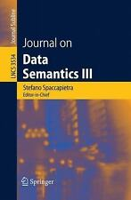 Journal on Data Semantics III (Lecture Notes in Computer Science  Journal on Dat