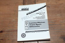 Lumina Minivan Trans Sport Silhoutte Book 2 Prelim 1996 GM Shop Service Manual