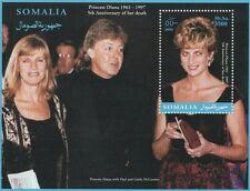 PRINCESS DIANA PAUL AND LINDA MCCARTNEY SOMALIA 2002 MNH STAMP SHEETLET