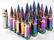 20 12X1.25 Aodhan XT92 SPIKED Lug Nuts Neo Chrome FIT NISSAN 240SX S13 S14 300ZX