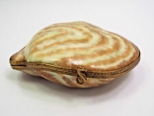 Limoges France Peint Main Oyster Shell w/ Mermaid Inside Trinket Box, #242/300