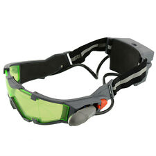 New Elastic Band LED Night Vision Goggles Eye shield Green Lens Glasses