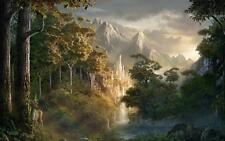 Art Print Castle Valley Oil painting Picture Printed on canvas 16x24 Inch P089