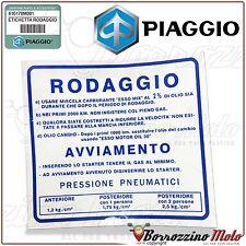 ETICHETTA ADESIVO BLU RODAGGIO 2% ORIGINALE PIAGGIO VESPA 50 SPECIAL L R N