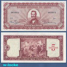 CHILE 5 Escudos on 5000 Pesos (1960-61)  UNC  P.130