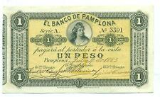 COLOMBIA NOTE BANCO PAMPLONA 1 PESO 1883 P S711a XF