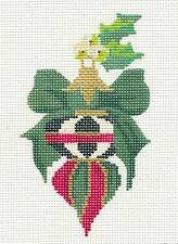 Kelly Clark Petite Spinning Top handpainted Needlepoint Canvas Ornament 18 mesh