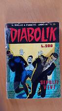 DIABOLIK anno IX n. 19  Sepolti vivi   ORIGINALE  Sodip 1970