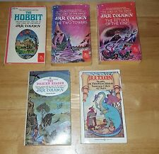 JRR Tolkien Paperback book lot of 5 Hobbit two towers Return of the king Reader