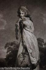 "ETCHING ACQUAFORTE 1792 Francesco Bartolozzi ""MISS FARREN Countess of Derby"""