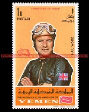 HAILWOOD Mike YEMEN 1969 Moto Timbre Sello