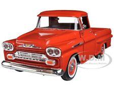 1958 CHEVROLET APACHE FLEETSIDE PICKUP ORANGE 1/24 MODEL CAR BY MOTORMAX 79311