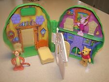 Vintage Mattel Winnie The Pooh Playset House With Pooh, Tigger, and Piglet