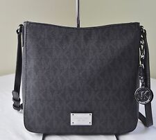 Michael Kors Jet Set Travel Black Signature Large Crossbody  Messenger