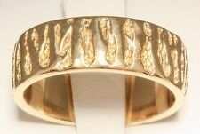 James Avery Retired 14K Solid Gold Textured Wedding Band Size 8