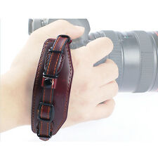 Leather Wrist Hand Strap Band with Metal Base for DSLR Canon Nikon Pentax DSLR