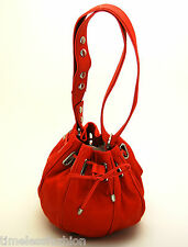 MIMCO SMALL SASH COCOON LEATHER BAG IN POPPY RED BNWT RRP$349