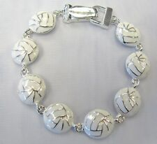 Volleyball Charm Bracelet Magnetic Clasp Team Coach Gift # 29769 New