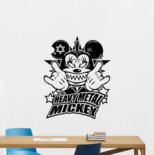 Heavy Metal Mickey Mouse Wall Decal Rock Music Vinyl Sticker Cool Decor 147hor