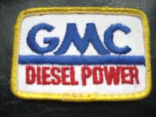 "GMC DIESEL POWER EMBROIDERED SEW ON PATCH TRUCK GENERAL MOTORS 3"" x 2"""