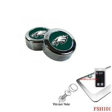 Brand New NFL Philadelphia Eagles Chrome License Plate Frame Screw Caps