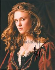 "KEIRA KNIGHTLEY genuine signed photo 1 - ""Liz Swann"" in PIRATES OF THE CARIBBEAN"