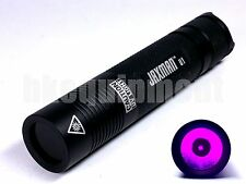JAXMAN U1 UV Ultraviolet 365nm 18650 3w Nichia Japan LED Flashlight