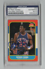 Patrick Ewing 1986 1987 Fleer PSA/DNA autographed signed card New York Knicks
