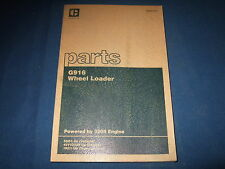 CAT CATERPILLAR G916 WHEEL LOADER PARTS BOOK MANUAL S/N 5GD1-UP