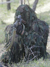 Fast Dry 3D Camouflage Woodland Leaf Cloth Ghillie Suit Jacket And Trousers