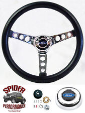 "1975-1977 Bronco 70-77 F-150 F-250 F-350 steering wheel BLACK 13 1/2"" Grant"