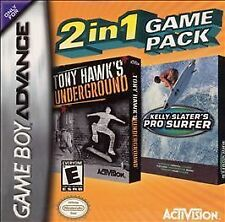 2 in 1 Game Pack: Tony Hawk's Underground/Kelly Slater's Pro Surfer - GBA Game