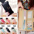 New Women Soft Bowknot Leather Clutch Wallet Long PU Card Purse Handbag lady